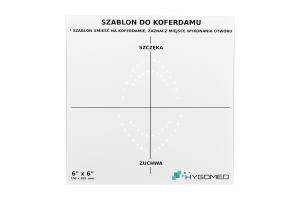 Szablon do koferdamu 6x6 HYGOMED